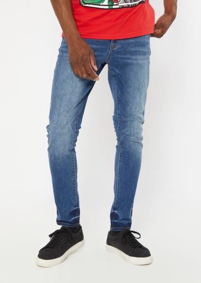dark wash super skinny jeans - Main Image