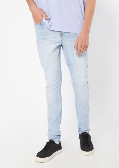 light wash super skinny jeans - Main Image