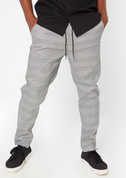 plaid e waist skinny - Main Image