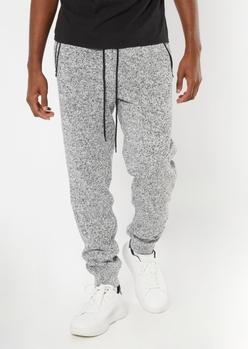 gray marled cozy knit joggers - Main Image