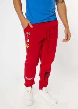 red open your mind graphic joggers - Main Image