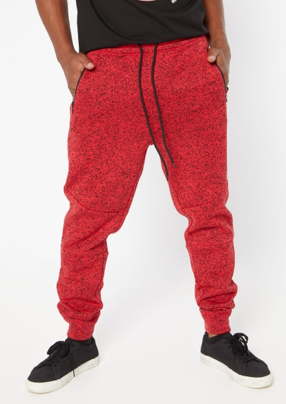 red marled cozy joggers - Main Image