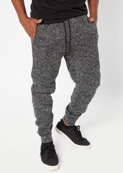 black marled cozy joggers - Main Image