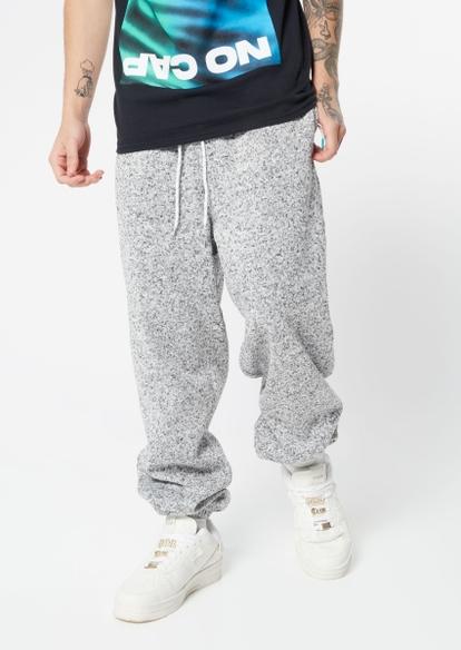 gray cozy joggers - Main Image