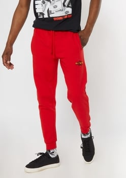red savage snake embroidered jogger - Main Image