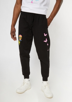 black butterfly print jogger - Main Image