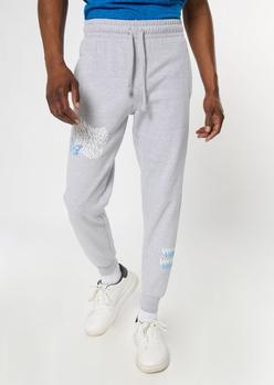 heather gray paranoid print jogger - Main Image