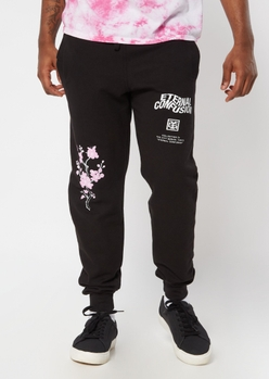 black cherry blossom eternal confusion graphic joggers - Main Image