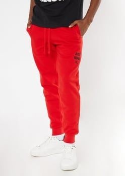 red send it embroidered joggers - Main Image