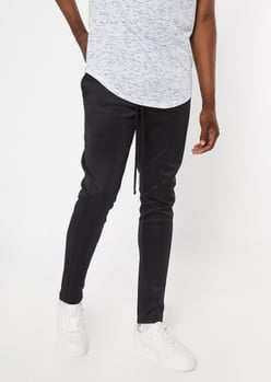 black drawstring track pants - Main Image