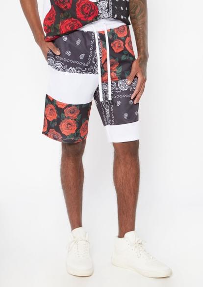 bandana patchwork track shorts - Main Image