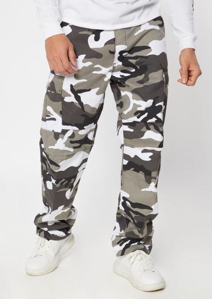 rothco gray camo print cargo pants - Main Image
