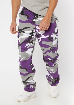 rothco purple camo print cargo pants - Main Image