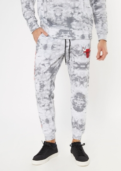 nba chicago bulls  gray tie dye graphic joggers - Main Image