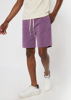 purple jogger shorts - Main Image