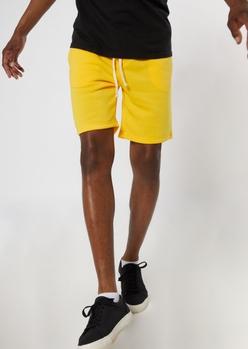 yellow jogger shorts - Main Image