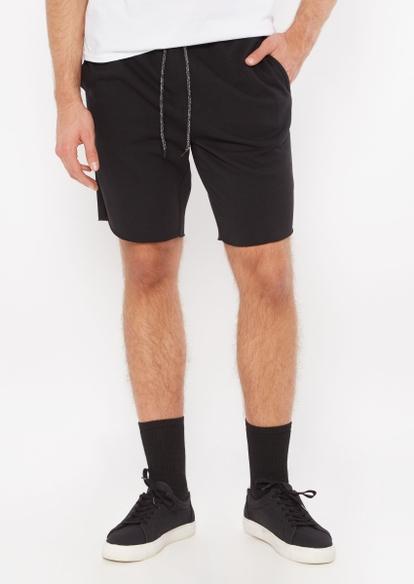 black jogger shorts - Main Image
