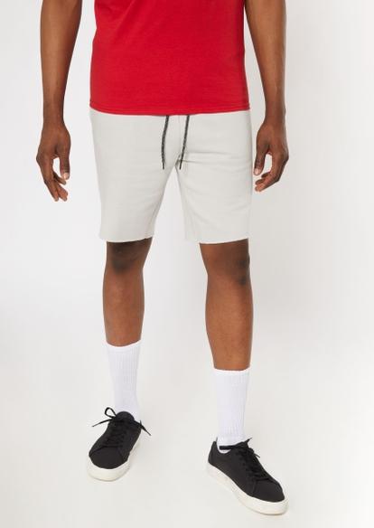 light gray jogger shorts - Main Image