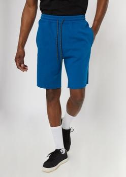 blue jogger shorts - Main Image