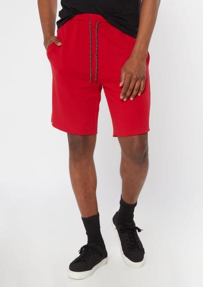 red jogger shorts - Main Image