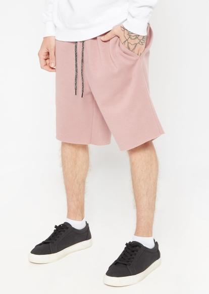mauve pink jogger shorts - Main Image