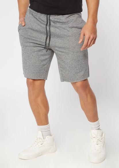 gray marled jogger shorts - Main Image