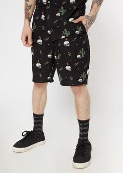 black desert skull twill shorts - Main Image