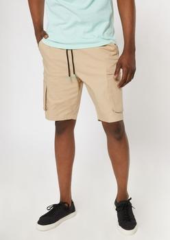 khaki cargo shorts - Main Image