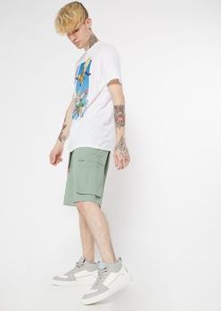 green cargo shorts - Main Image