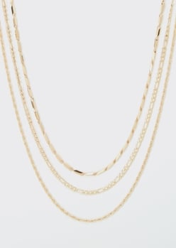 gold chain layered necklace - Main Image