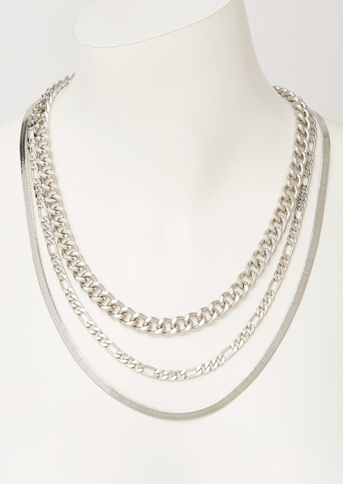 SILVER 3 LAYER CHAIN placeholder image