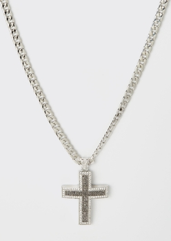 PAVE CROSS WITH HEM STONE placeholder image
