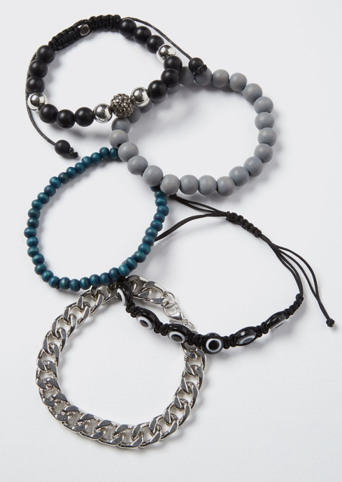 BLK AND NAVY SILV CHAIN placeholder image