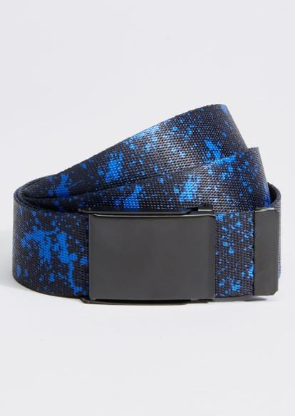 black splatter paint print web belt - Main Image