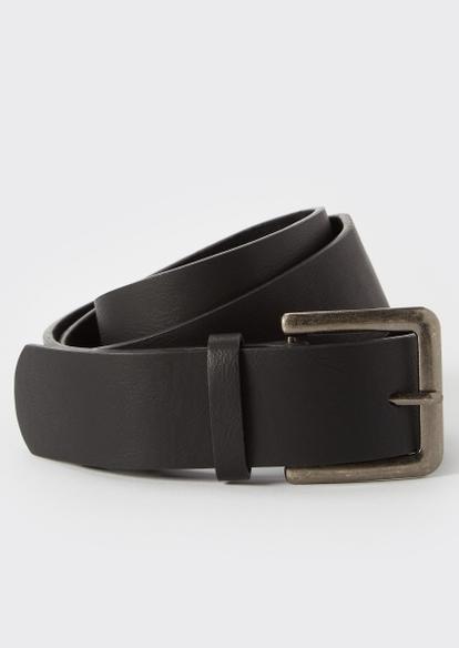 black faux leather belt - Main Image