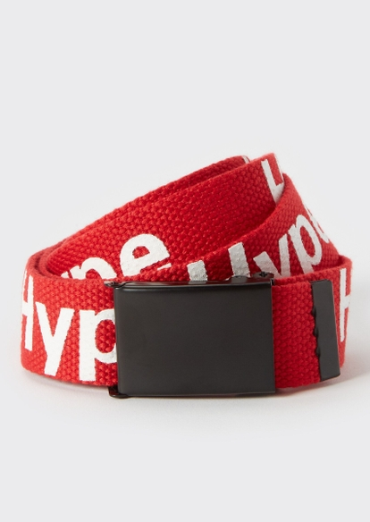 red hype utility buckle belt - Main Image