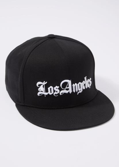 black la script flat brim hat - Main Image