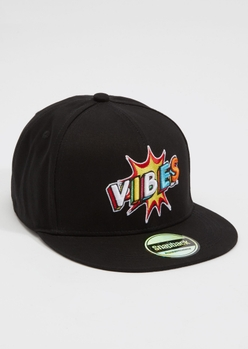 black bam vibes embroidered snap back hat - Main Image
