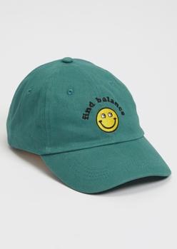 teal find balance dad hat - Main Image