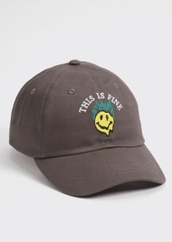 gray this is fine embroidered dad hat - Main Image