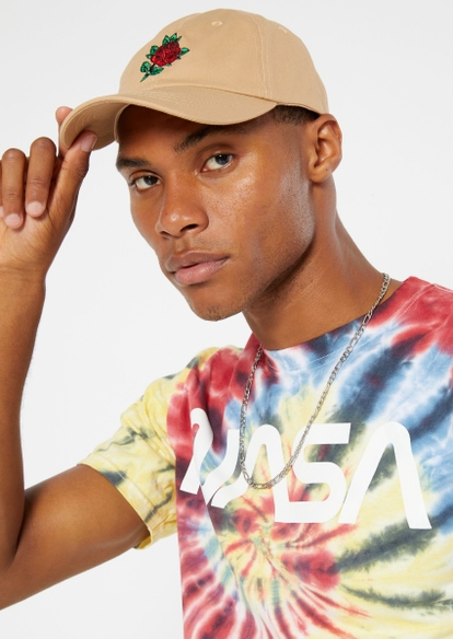 sand rose embroidered dad hat - Main Image