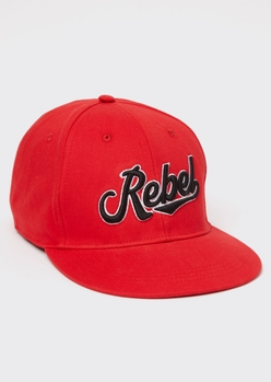 red rebel embroidered hat - Main Image