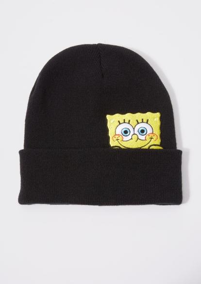black spongebob embroidered beanie - Main Image