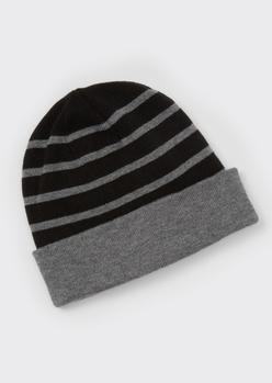 gray reversible beanie - Main Image