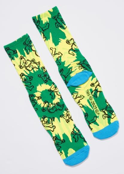 green tie dye grateful dead socks - Main Image