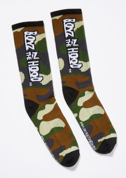 camo print boyz n the hood socks - Main Image