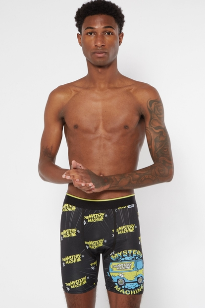 scooby doo mystery machine long length boxer briefs - Main Image