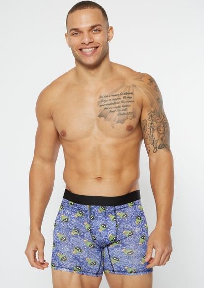 blue marvin martian paisley boxer briefs - Main Image