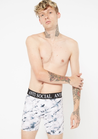 marble print antisocial active trunks - Main Image