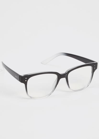 black blue light square frame glasses - Main Image